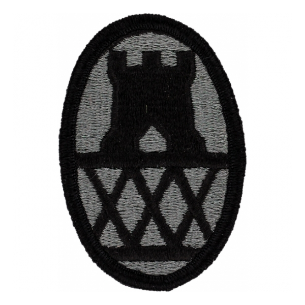 30th Engineer Brigade Patch Foliage Green (Velcro Backed)