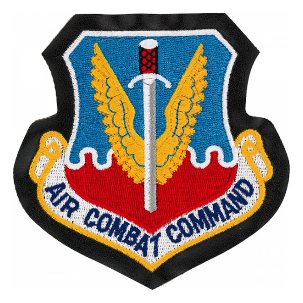 Air Combat Command Patch With Hook Fastener