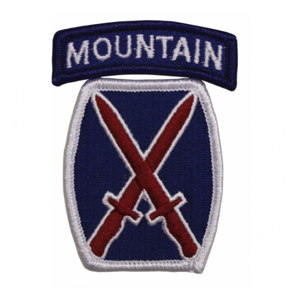 10th Mountain Division Patch w/ Tab