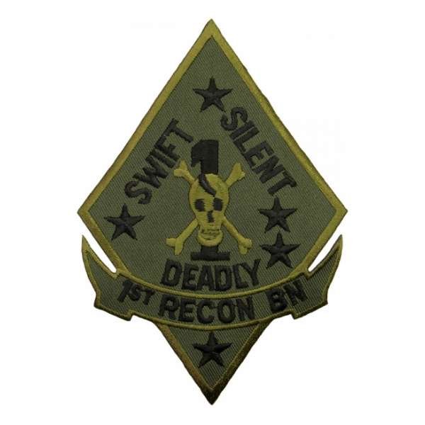 1st Marine Recon Battalion Patch (Subdued)