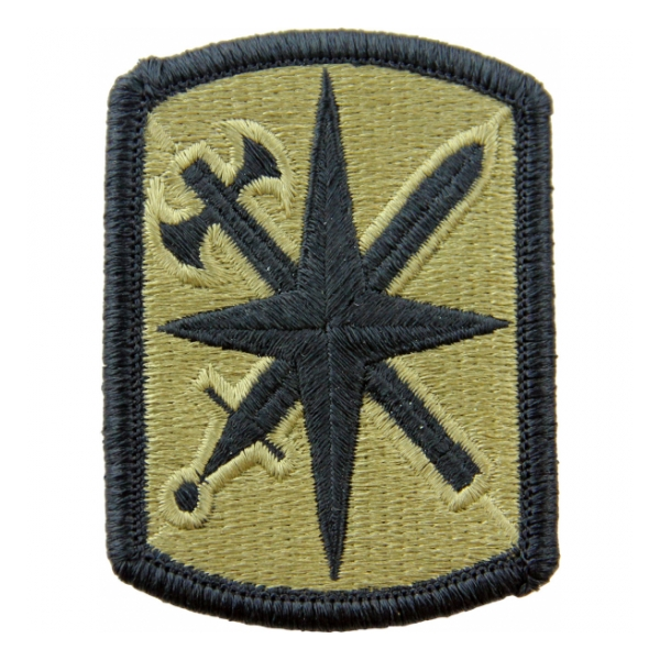 14th Military Police Brigade Scorpion / OCP Patch With Hook Fastener