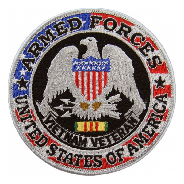 United States Armed Forces Vietnam Silver Patch