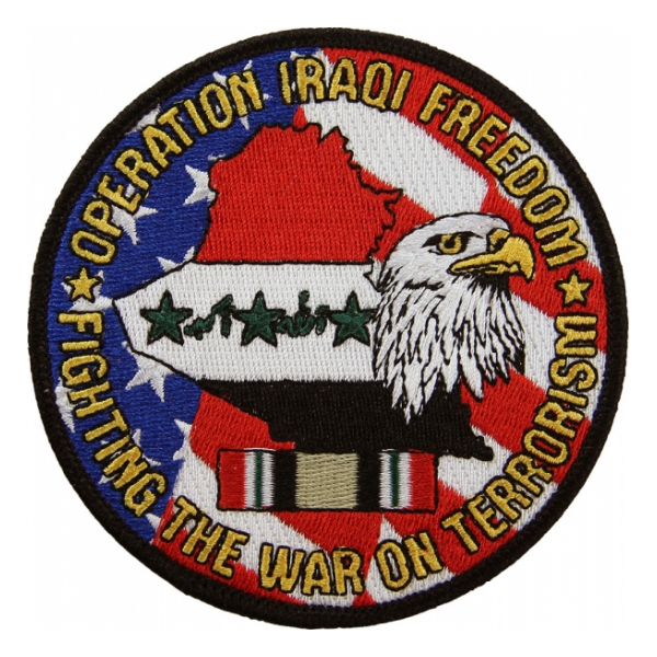 "Operation Iraqi Freedom Patch ""Fighting The War On Terrorism"