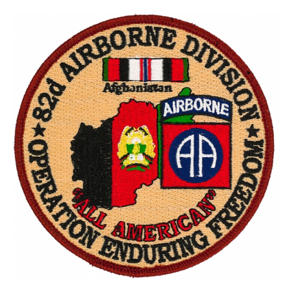 "82nd Infantry Division Operation Enduring Freedom Patch ""All American"