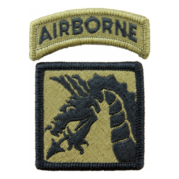 18th Airborne Corps Scorpion / OCP Patch With Hook Fastener