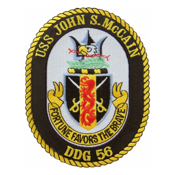 USS John S. McCain DDG-56 Ship Patch