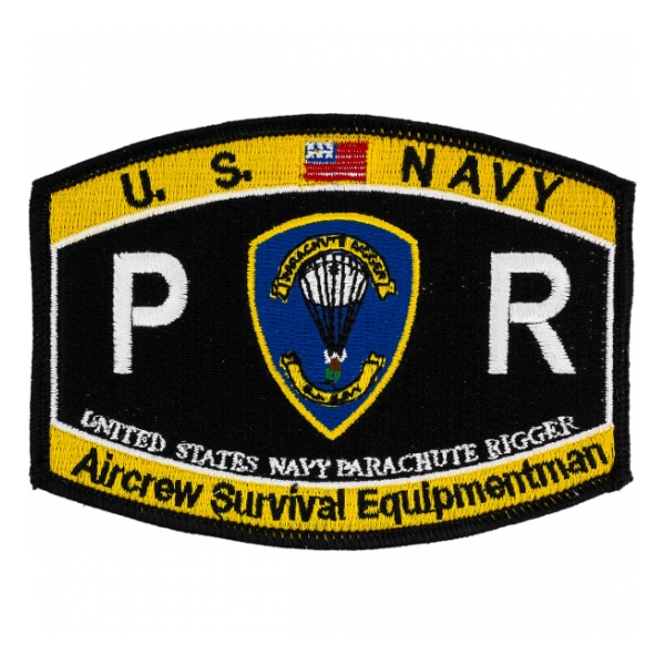 USN RATE PR Navy Parachute Rigger Aircrew Survival Equipmentman patch
