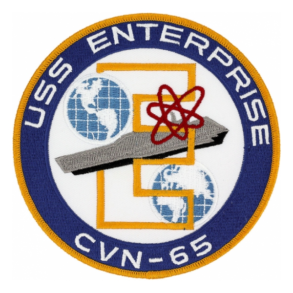 USS Enterprise CVN-65 Ship Patch