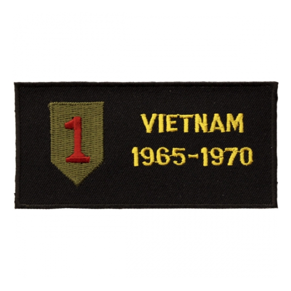 1st Infantry Division Vietnam Patch w/ Dates