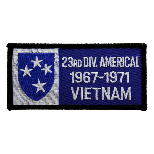 23rd Infantry Division Vietnam Patch w/ Dates