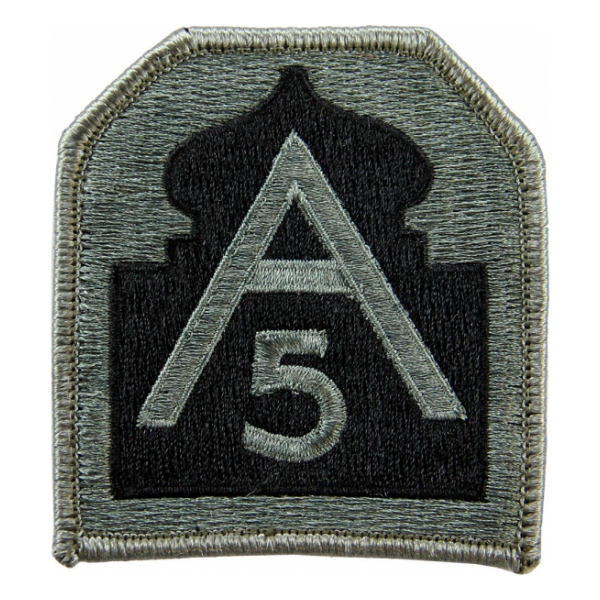5th Army Patch Foliage Green (Velcro Backed)