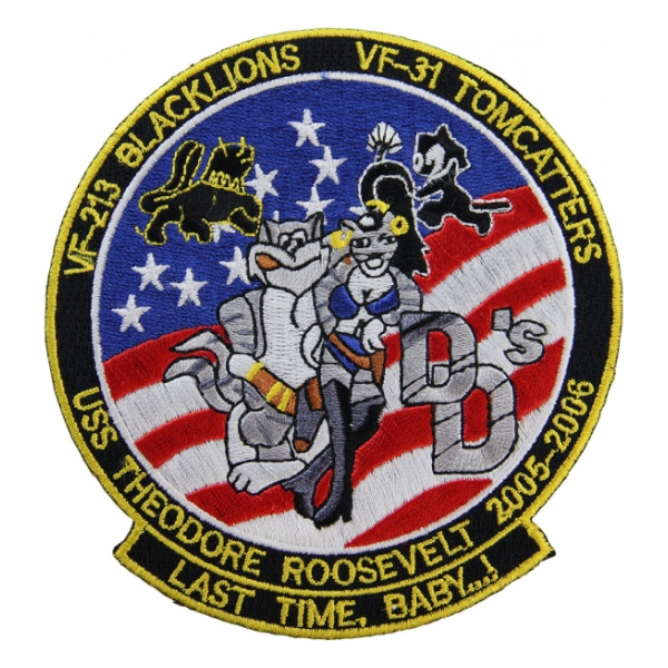 USS Theodore Roosevelt 2005-2006 VF-213/VF-31 Patch