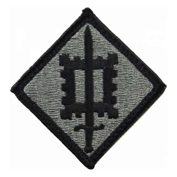18th Engineer Brigade Patch Foliage Green (Velcro Backed)
