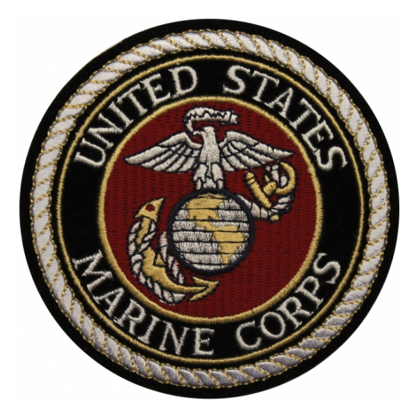 United States Marine Corps Patch (White Lettering)