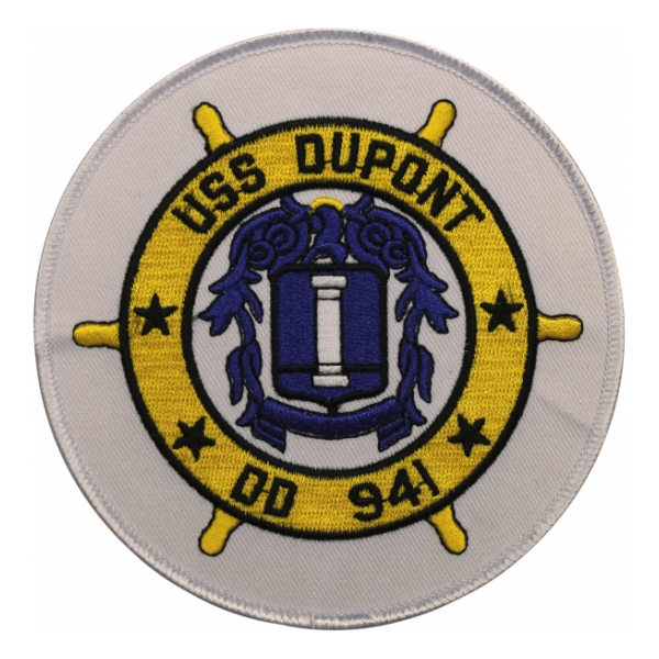 USS Dupont DD-941 Ship Patch