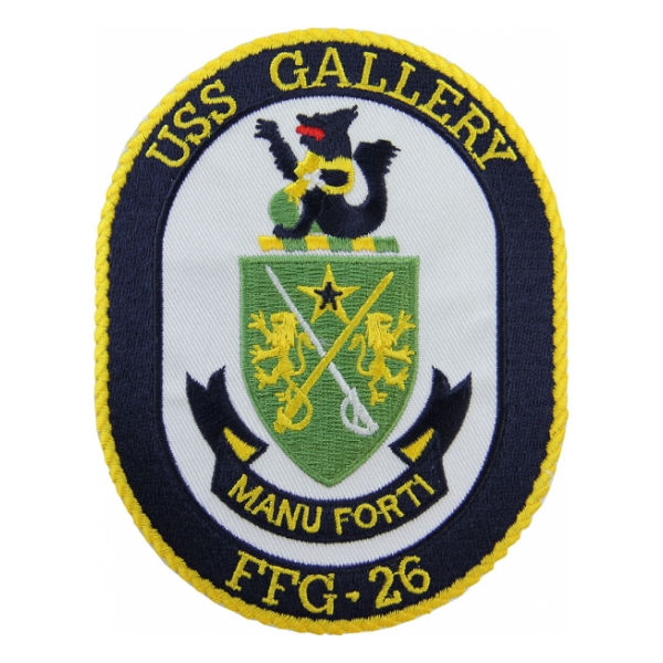 USS Gallery FFG-26 Ship Patch