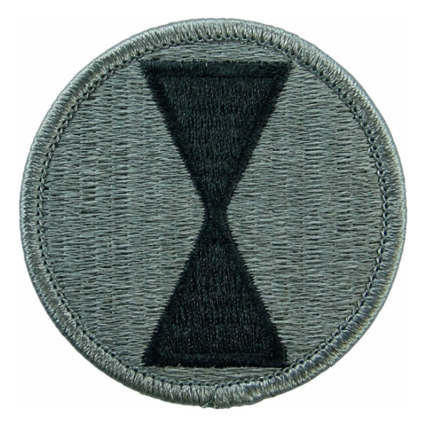 7th Infantry Division Patch Foliage Green (Velcro Backed)