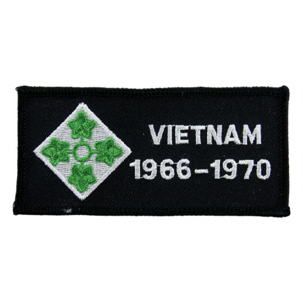 4th Infantry Division Vietnam Patch w/ Dates