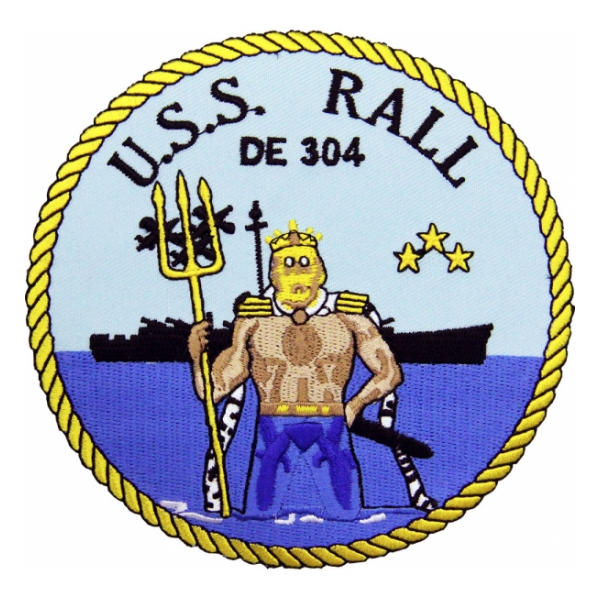 USS Rall DE-304 Ship Patch