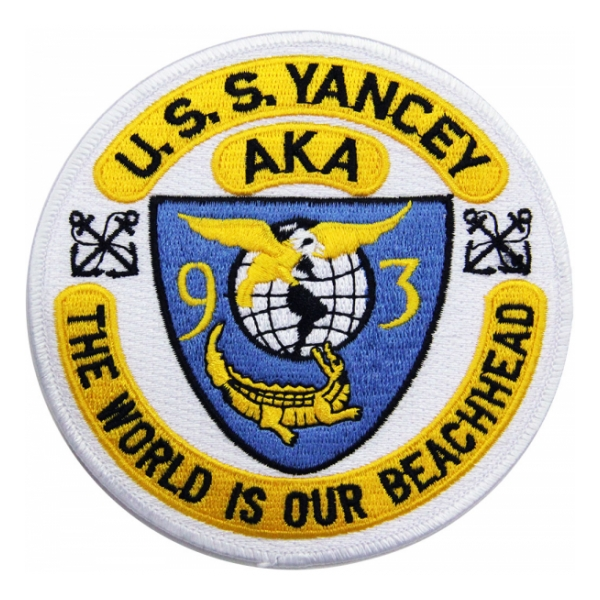 USS Yancey AKA-93 Ship Patch