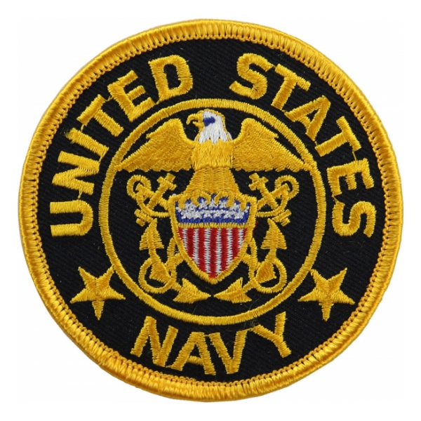 Navy Logo Patch (Gold on Black, Small)