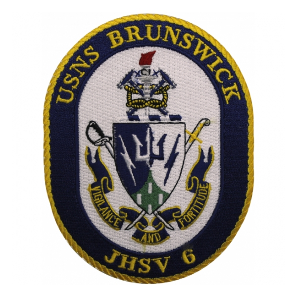 USNS Brunswick JHSV-6 Ship Patch