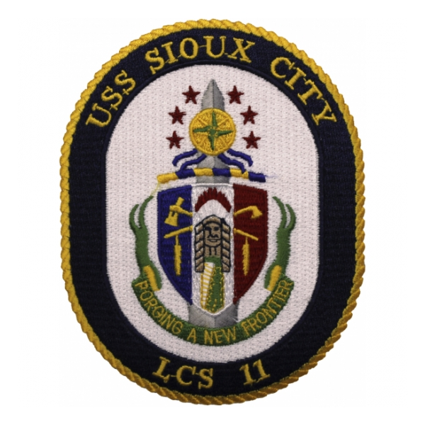 USS Sioux City LCS-11 Ship Patch