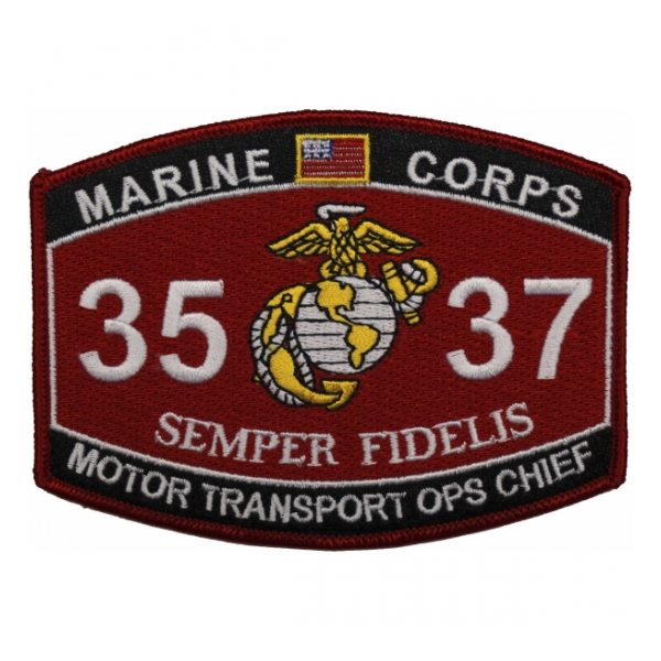 USMC MOS 3537 Motor Transport OPS Chief Patch