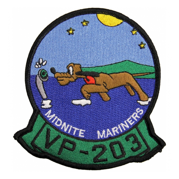 Navy Patrol Squadron VP-203 (Midnite Mariners) Patch