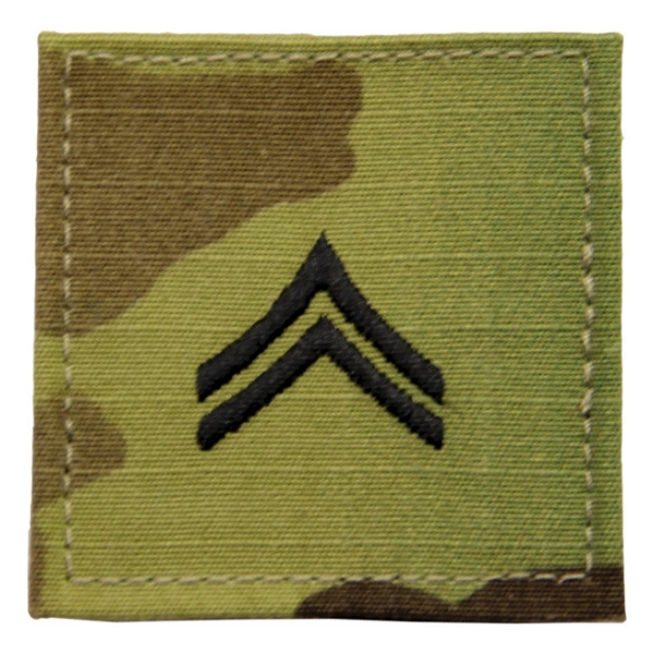 Army Scorpion Corporal E-4 Rank with Velcro Backing
