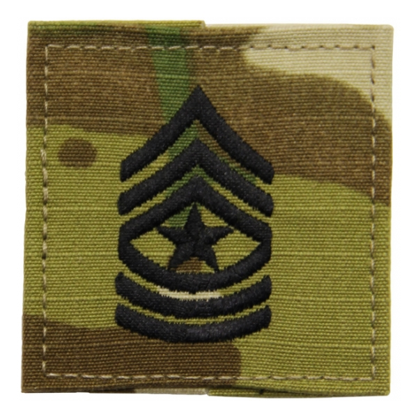 Army Scorpion Sergeant Major E-9 Rank with Velcro Backing