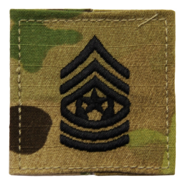 Army Scorpion Command Sergeant Major E-9 Rank with Velcro Backing