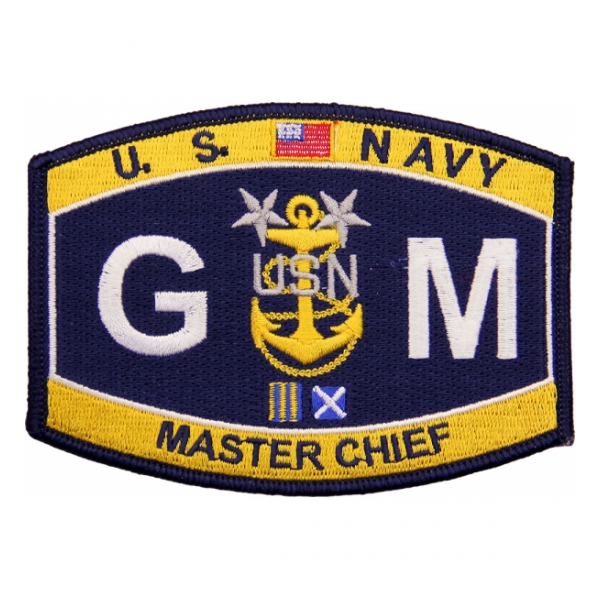 USN RATE GM Gunner's Mate Master Chief Patch