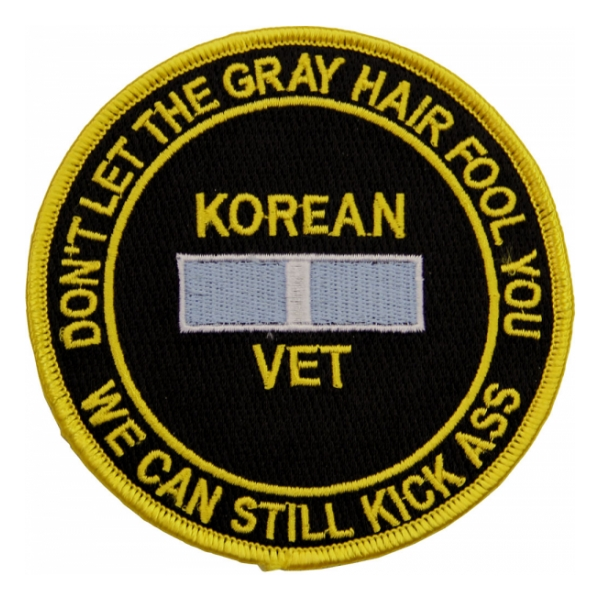 Korean Vet (Don't Let The Gray Hair Fool You) Patch
