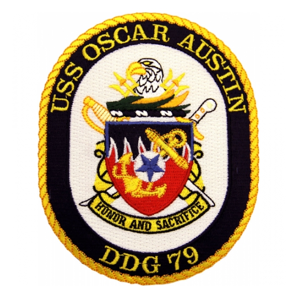USS Oscar Austin DDG-79 Ship Patch