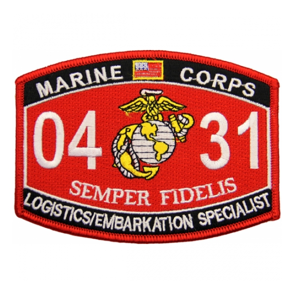 USMC MOS 0431 Logistics Embarkation Specialist Patch