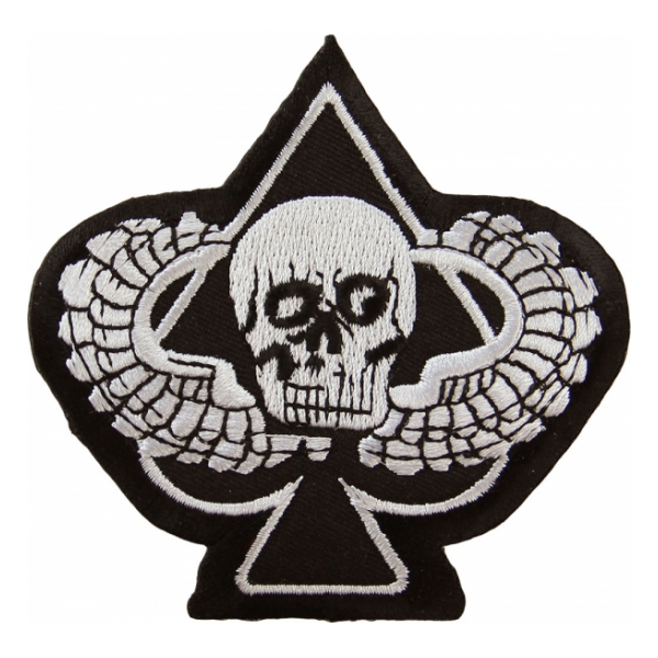 Winged Skull Ace Patch