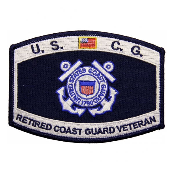 USCG Retired Coast Guard Veteran Patch