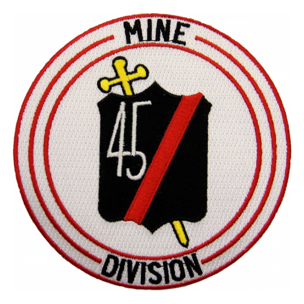 Navy Mine Division 45 Ship Patch