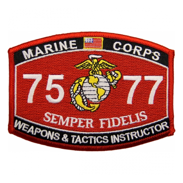 USMC MOS 7577 Weapons & Tactics Instructor Patch