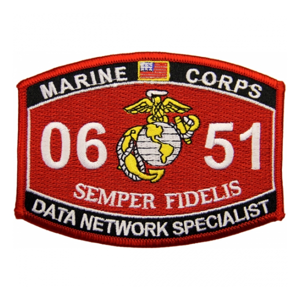 USMC MOS 0651 Data Network Specialist Patch
