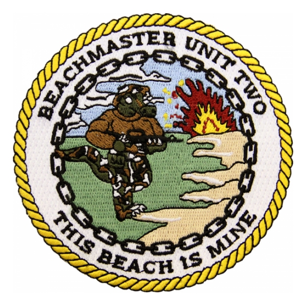 Navy Beachmaster Unit 2 (This Beach Is Mine) Patch