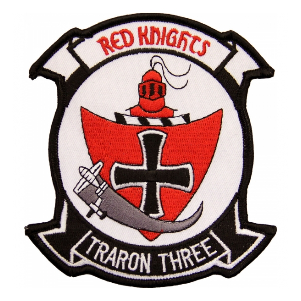 Navy Training Squadron VT-3 (Red Knights - Traron Three) Patch