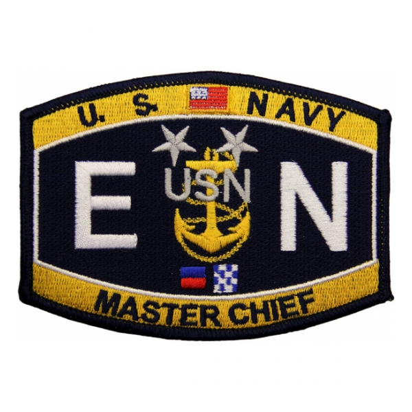 USN RATE EN Master Chief Engineman Patch