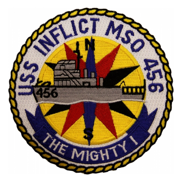 USS Inflict MSO-456 Ship Patch