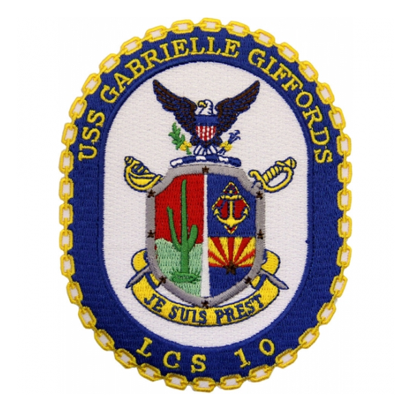 USS Gabrielle Giffords LCS-10 Ship Patch