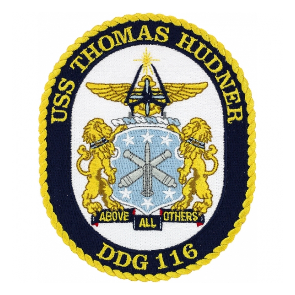 USS Thomas Hudner DDG-116 Ship Patch