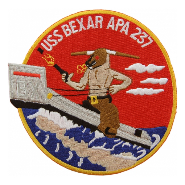 USS Bexar APA-237 Ship Patch