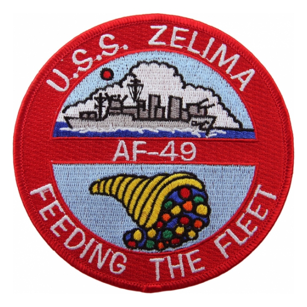 USS Zelima AF-49 Ship Patch