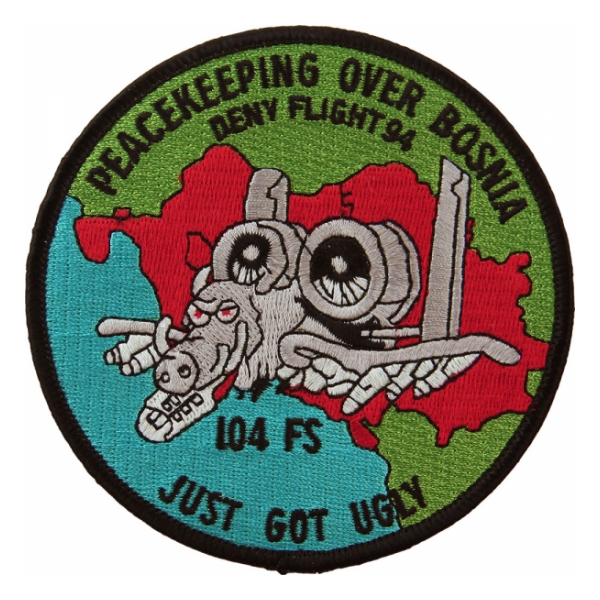 Air Force 104th Fighter Squadron (Operation Deny Flight 1994) Patch